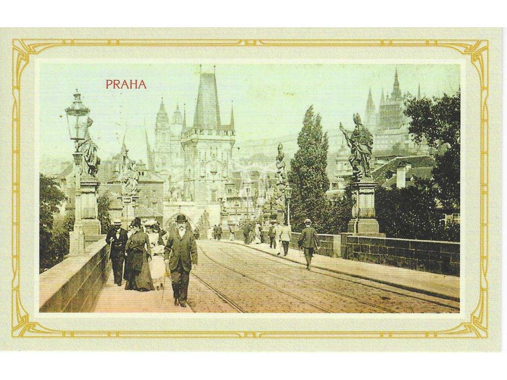14432 3 pohlednice karluv most a mala strana