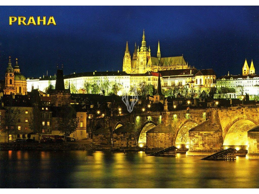 3431 2 pohlednice praha prazsky hrad a karluv most