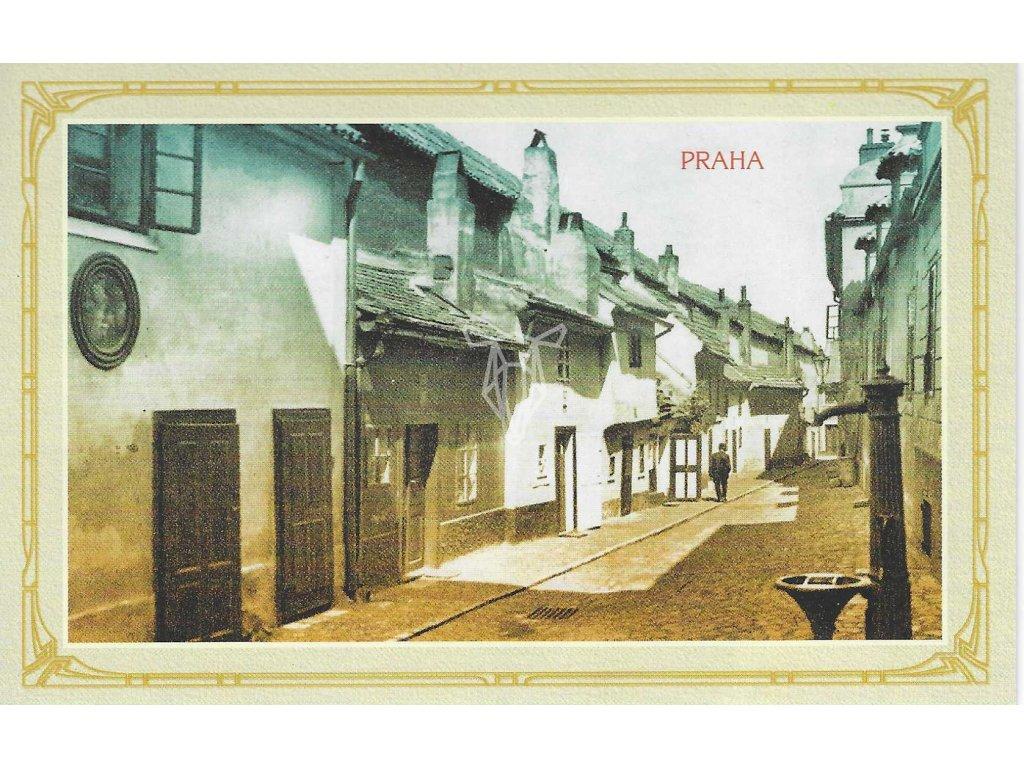 14438 3 pohlednice praha zlata ulicka