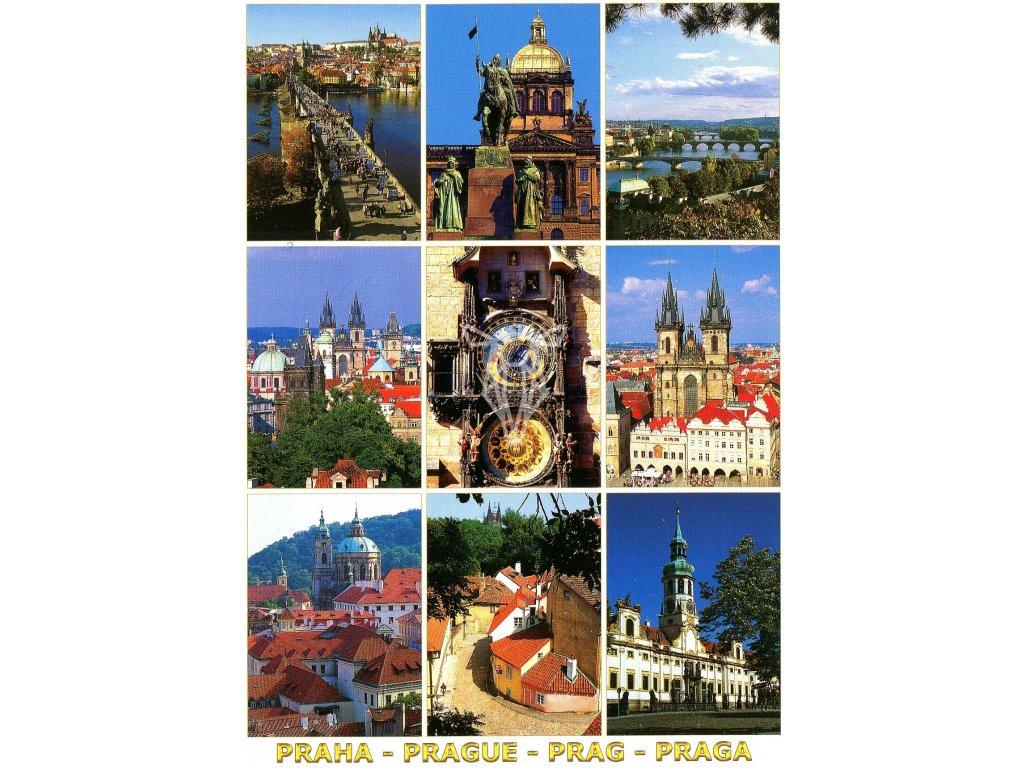 3404 2 pohlednice praha 9x 2