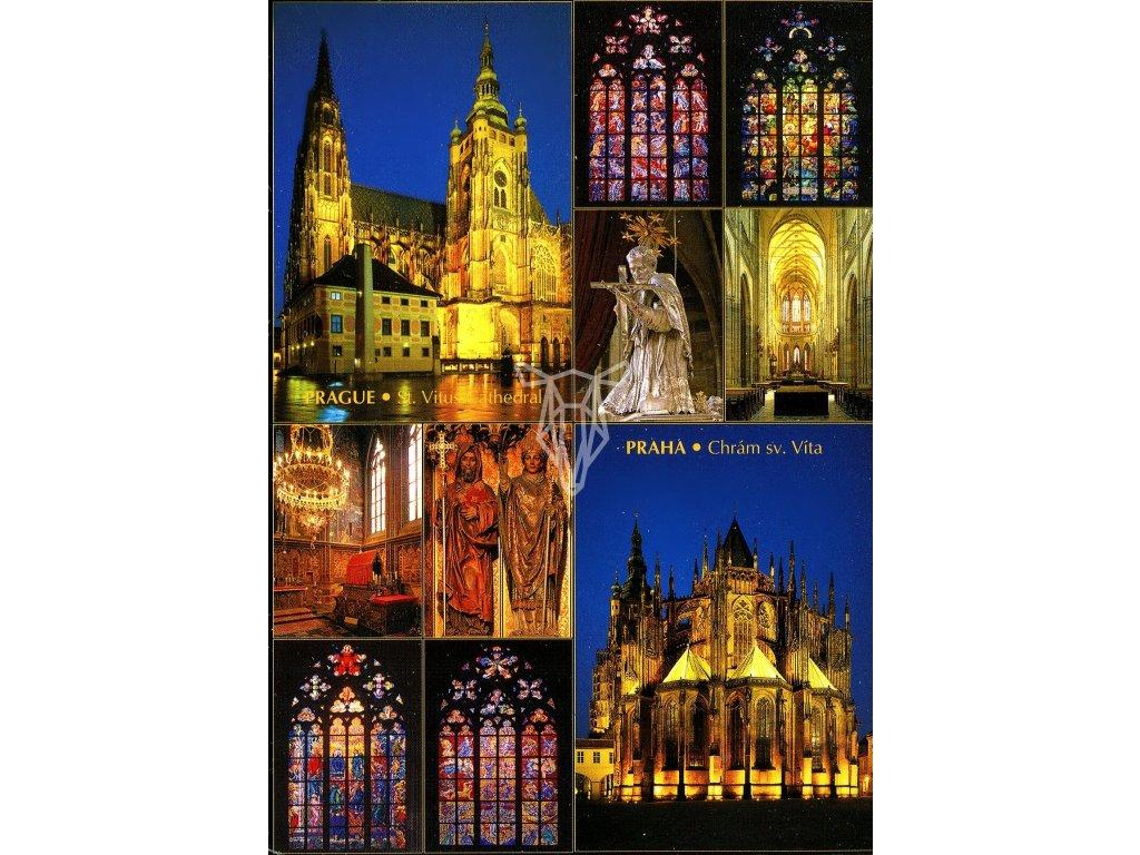3434 2 pohlednice praha chram sv vita