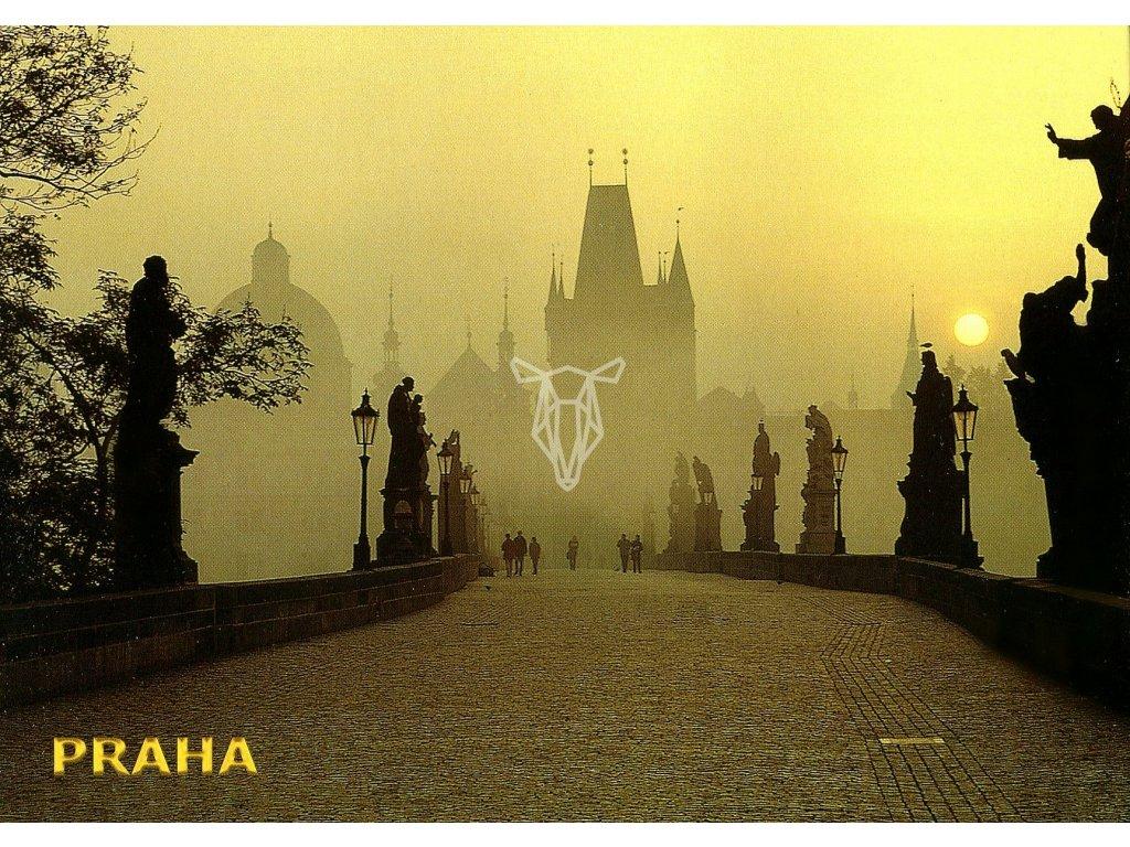 3395 2 pohlednice praha karluv most 1
