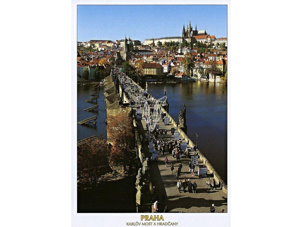 4718 2 pohlednice praha karluv most