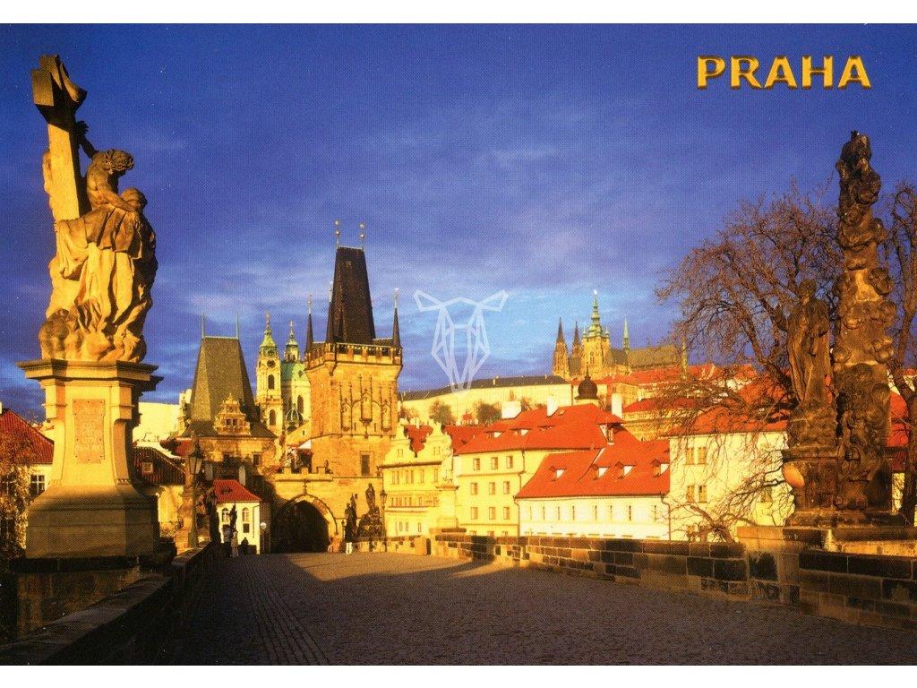 482 pohlednice praha karluv most 2