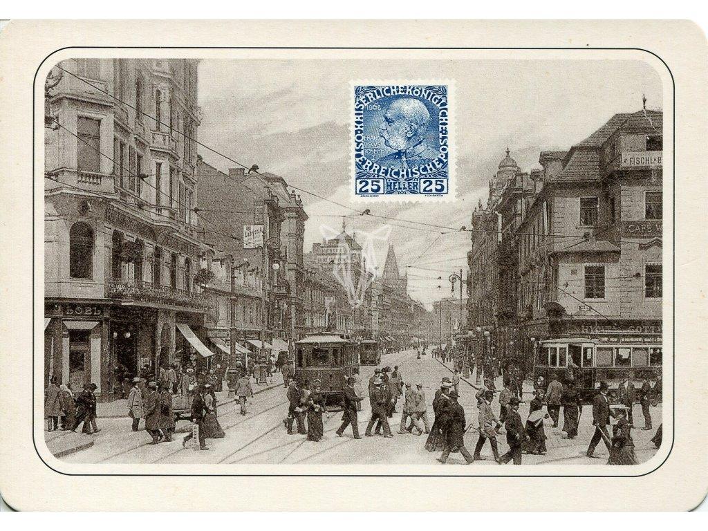 4307 2 pohlednice praha prikopy roku 1900