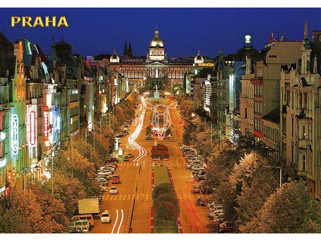 4667 2 pohlednice praha vaclavske namesti