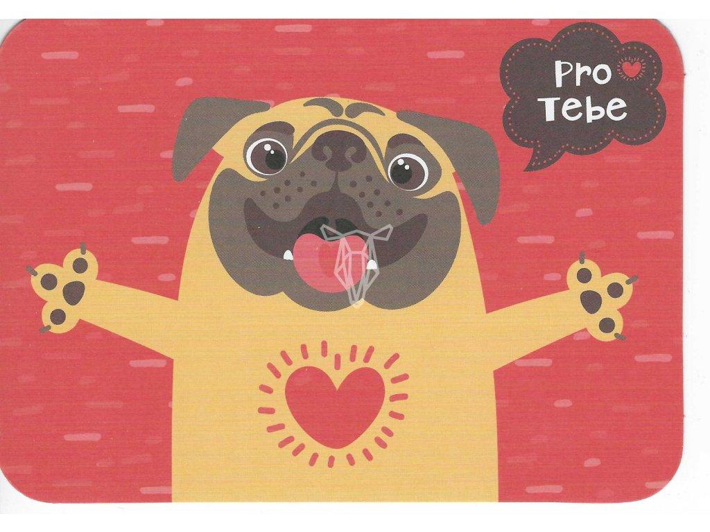 15149 3 pohlednice psi srdce pro tebe