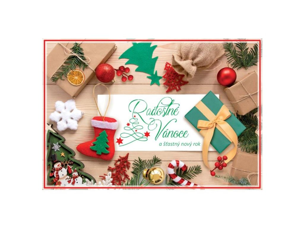 16841 pohlednice radostne vanoce a stastny novy rok