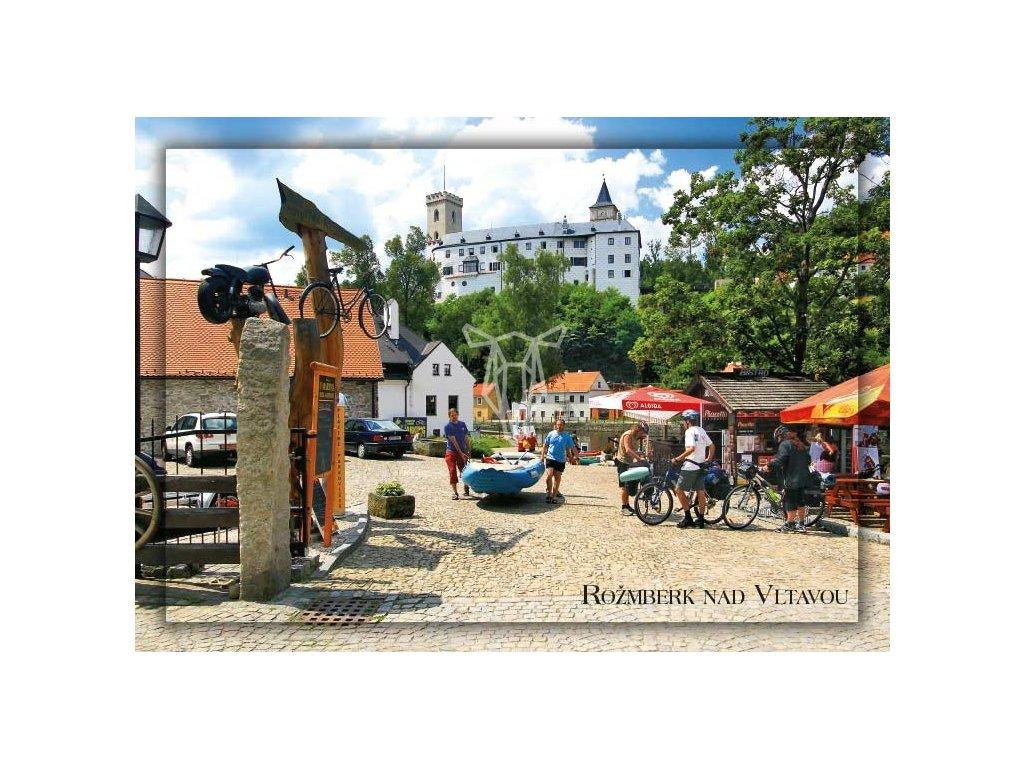 15473 3 pohlednice rozmberk vodacky a cyklisticky