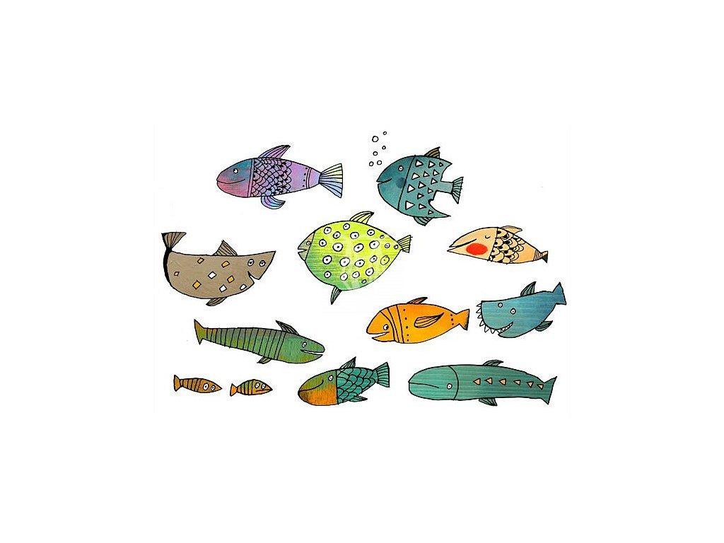 1022 pohlednice rybky