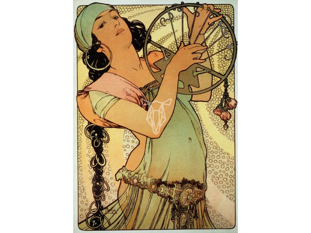 2153 2 pohlednice salome alfons mucha