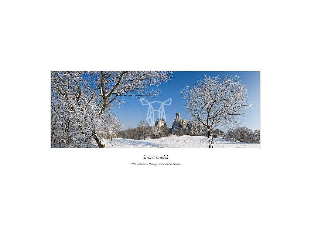 557 pohlednice sirotci hradek palava siroka