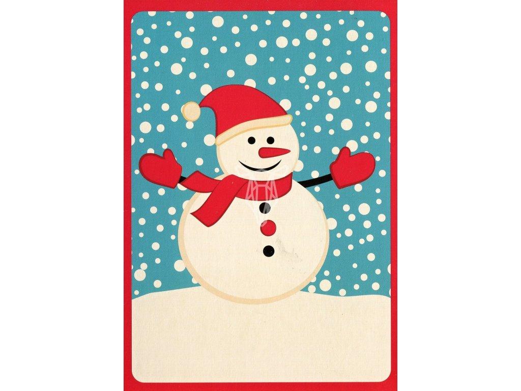 275 pohlednice snehulak