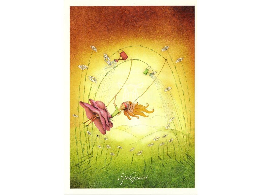 7751 2 pohlednice spokojenost