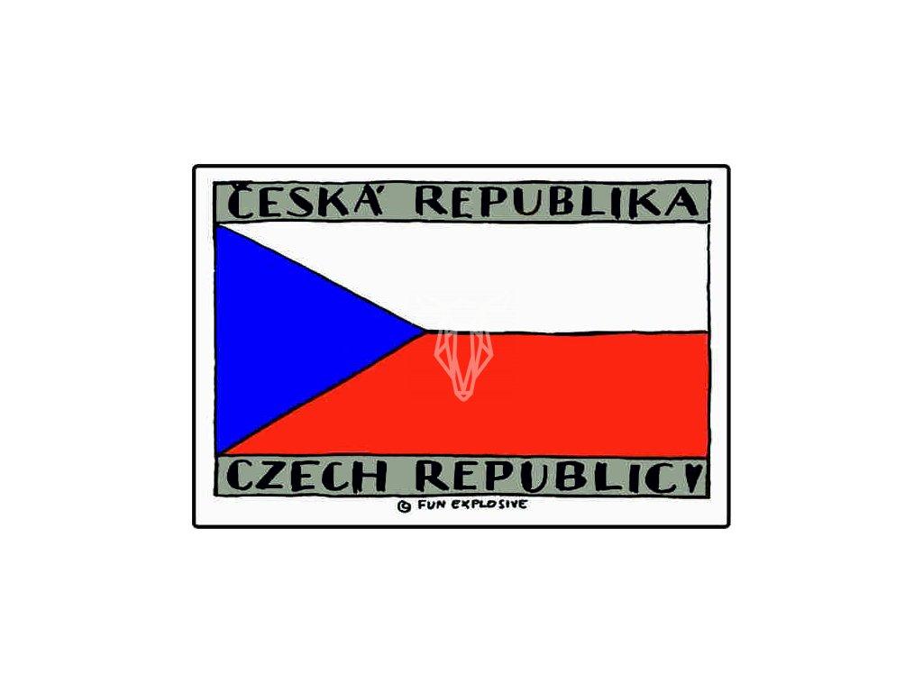 16724 magnetka vlajka cr