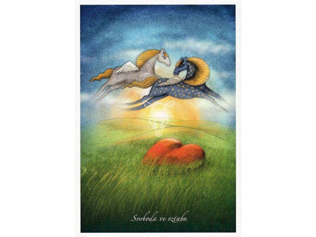 8663 2 pohlednice svoboda ve vztahu