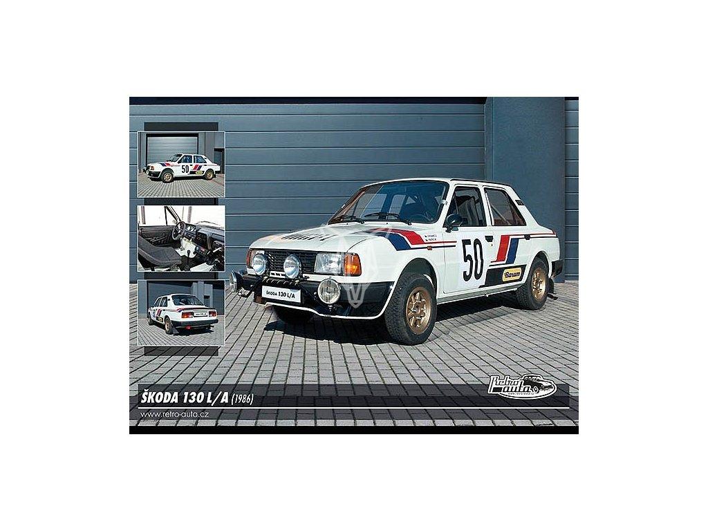 11975 2 pohlednice skoda 130 l a 1986