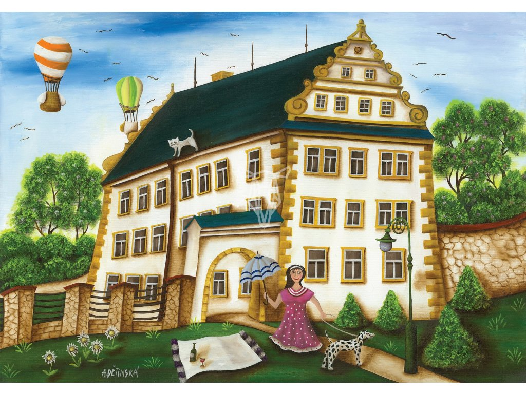 10766 2 pohlednice sluknovsky zamek