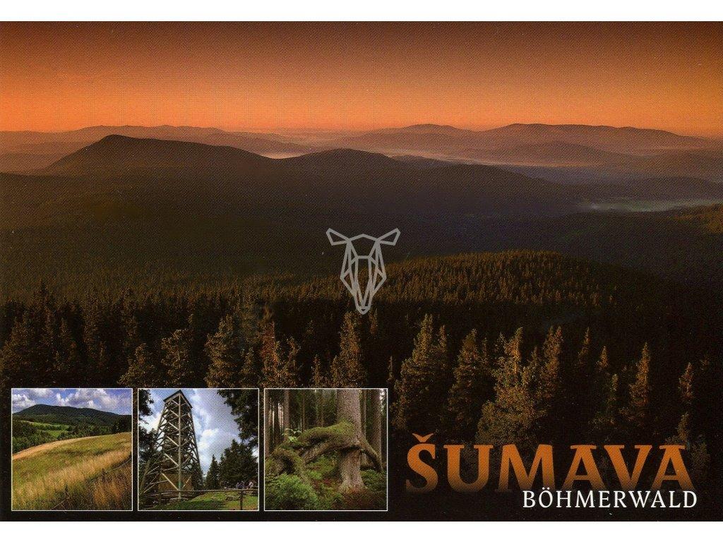 4994 1 pohlednice sumava boubin a okoli