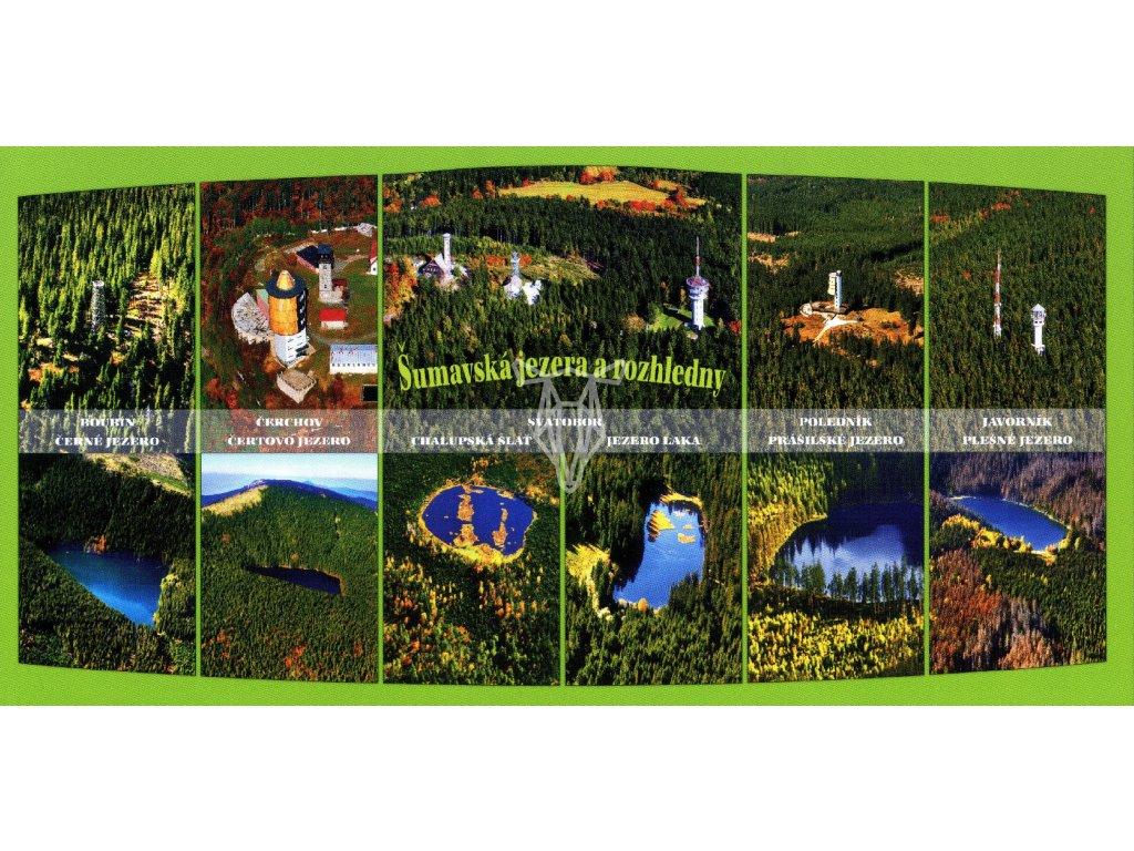 107 pohlednice sumavska jezera a rozhledny