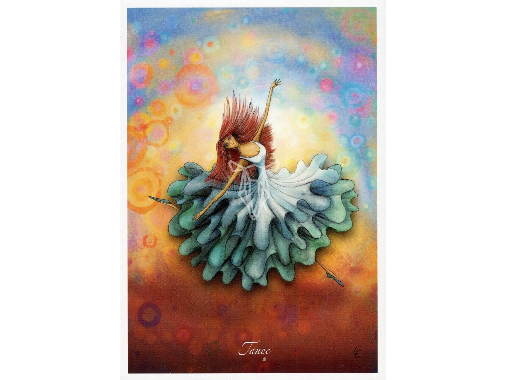 8657 2 pohlednice tanec
