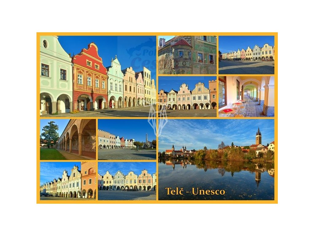 13883 3 pohlednice telc