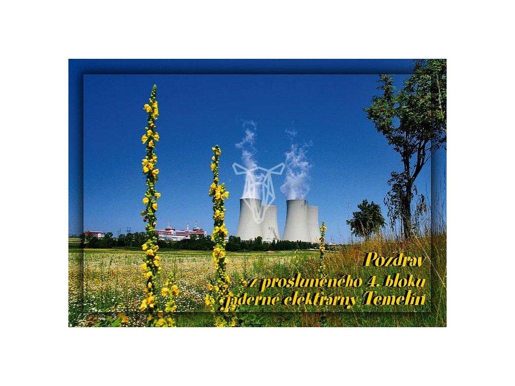 260 pohlednice temelin pozdrav z prosluneneho 4 bloku jaderne elektrarny
