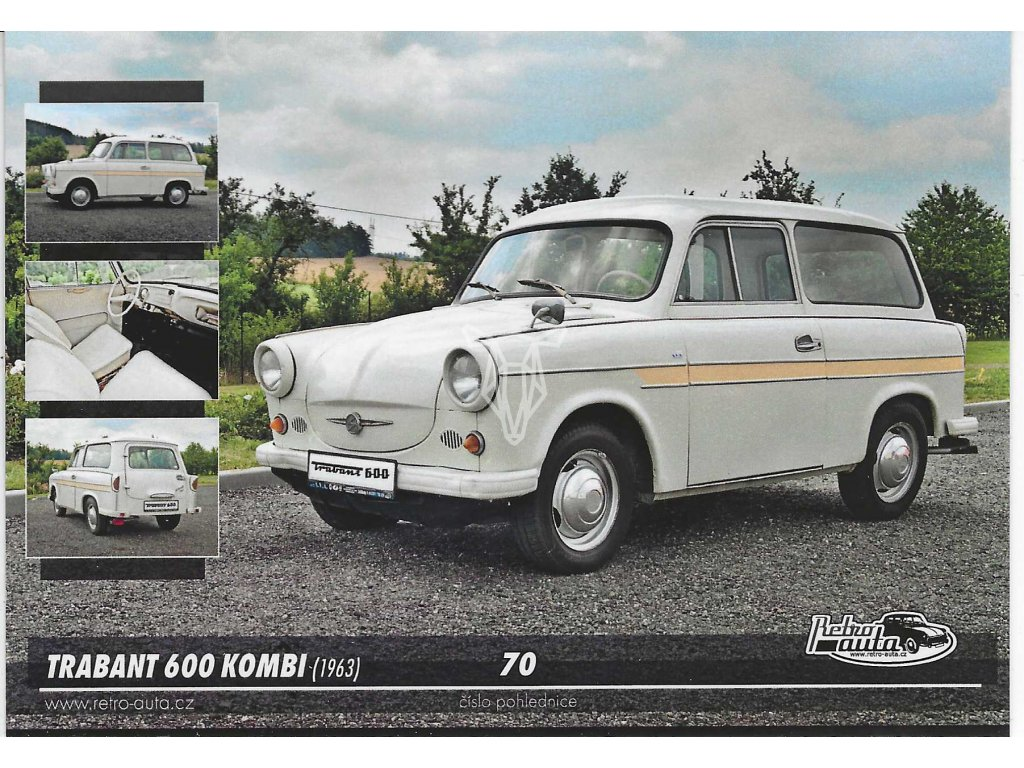 14042 3 pohlednice trabant 600 kombi