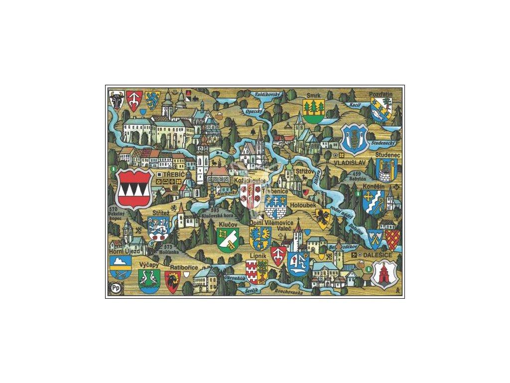 14165 3 pohlednice trebic putovani krajinou s erby