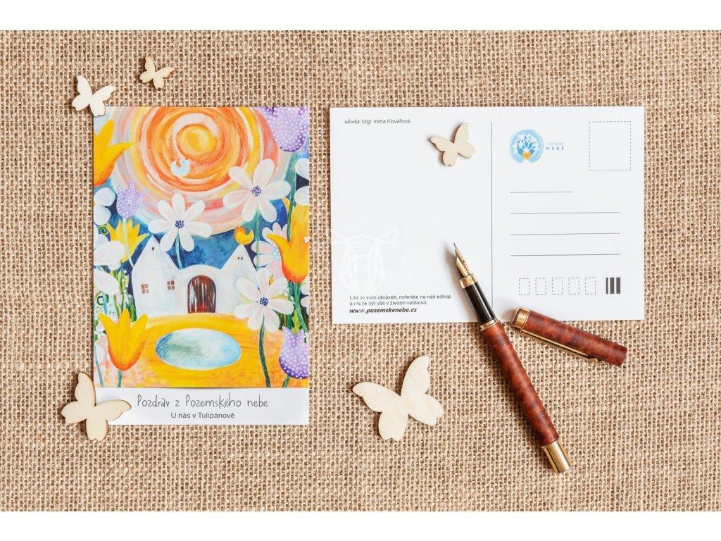 195 4 pohlednice lecive obrazy ireny kovarove u nas v tulipanove 2