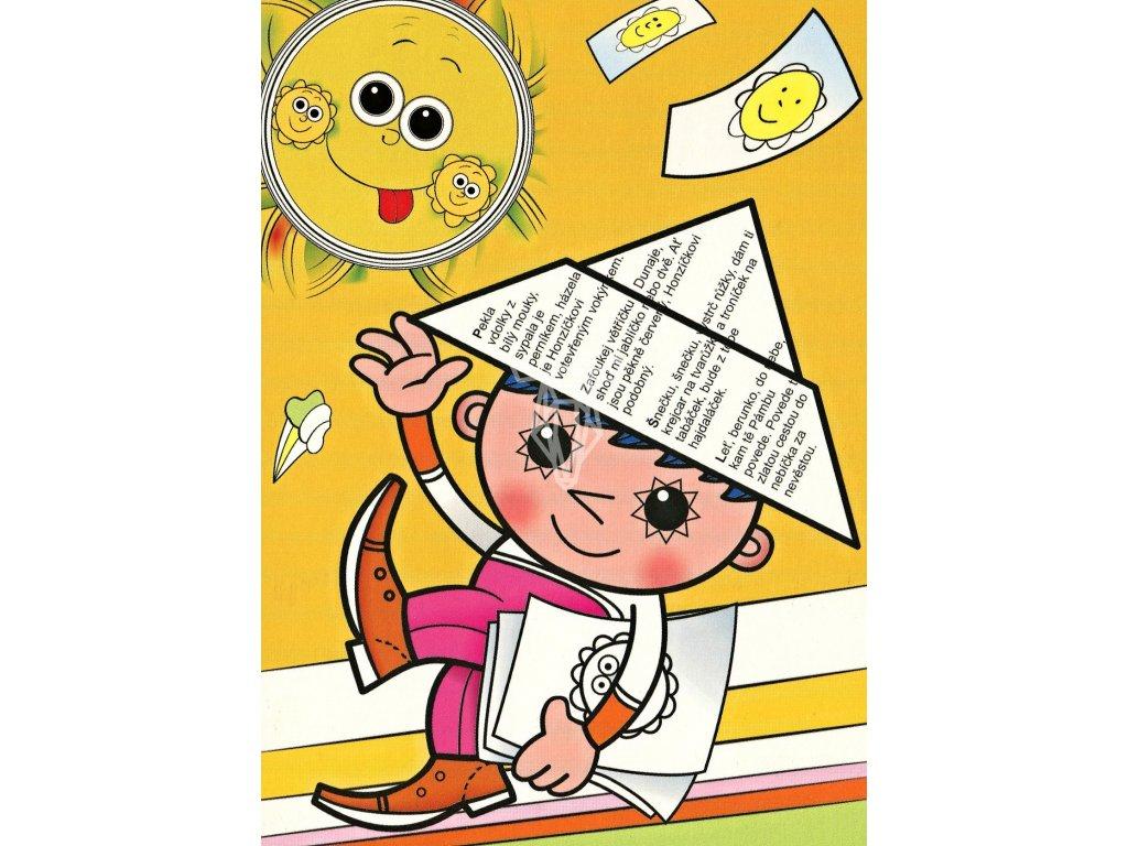 3872 2 pohlednice vecernicek a slunce