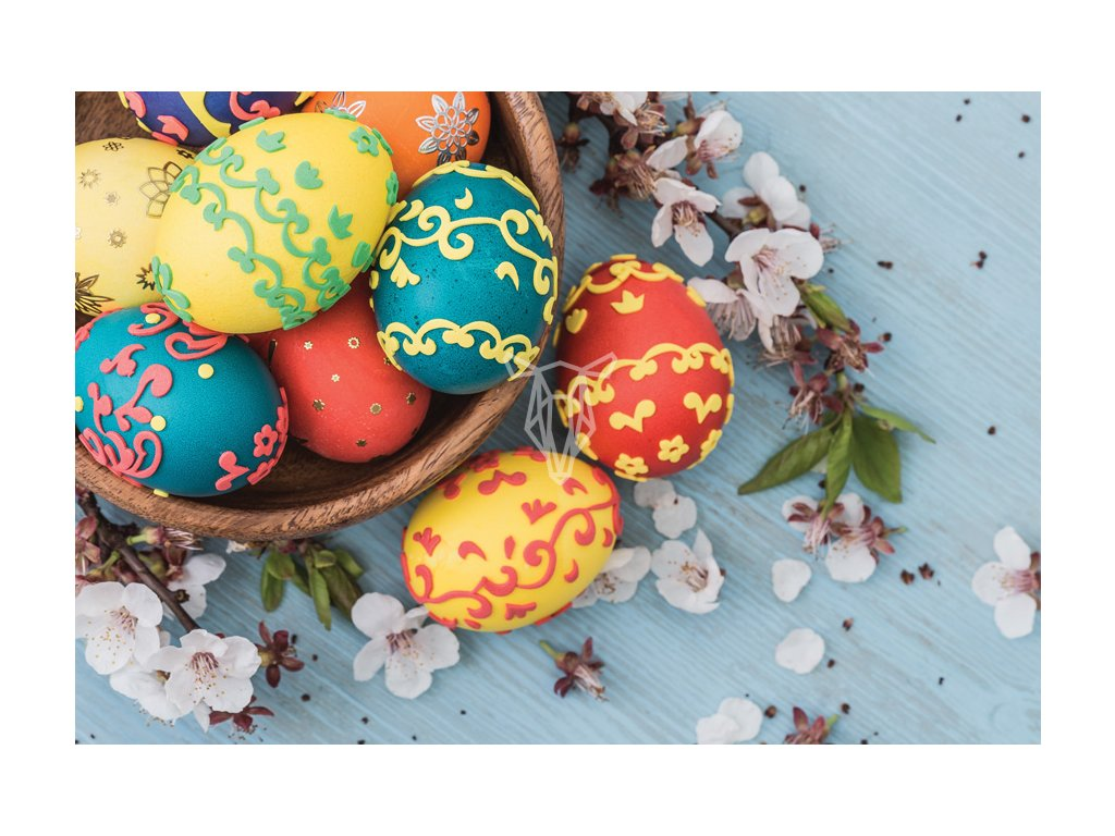 Easter eggs in the basket