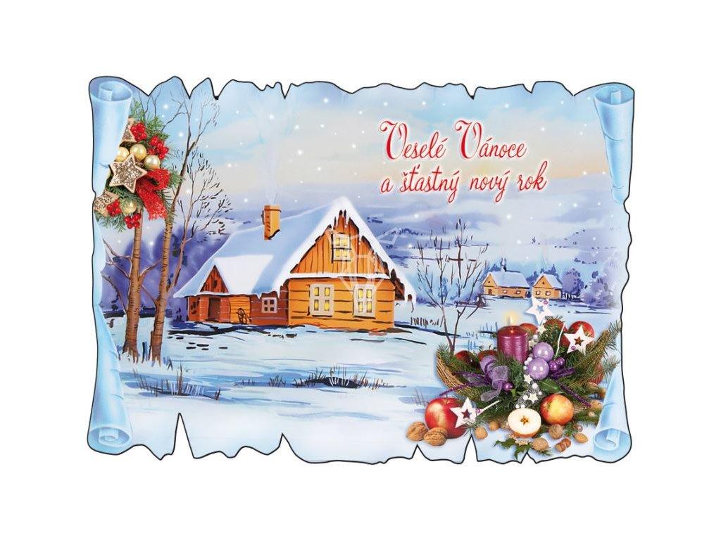 16379 pohlednice vesele vanoce a stastny novy rok