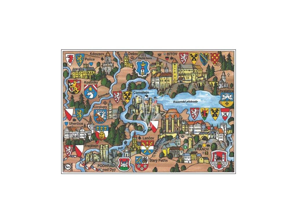 14183 4 pohlednice vranov nad dyji putovani krajinou s erby