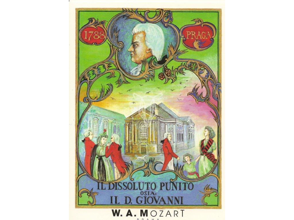 608 2 pohlednice wolfgang amadeus mozart