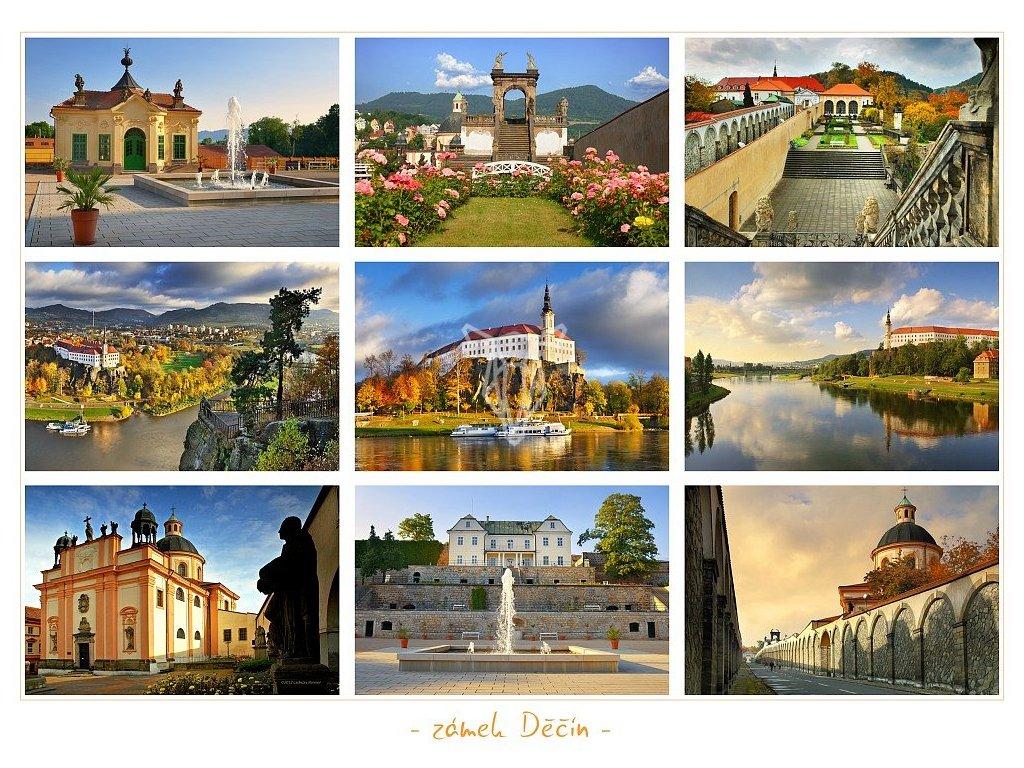 827 pohlednice zamek decin