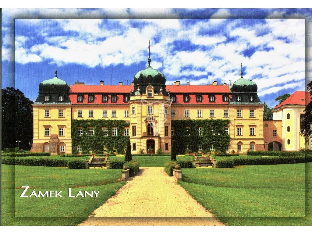 407 pohlednice zamek lany