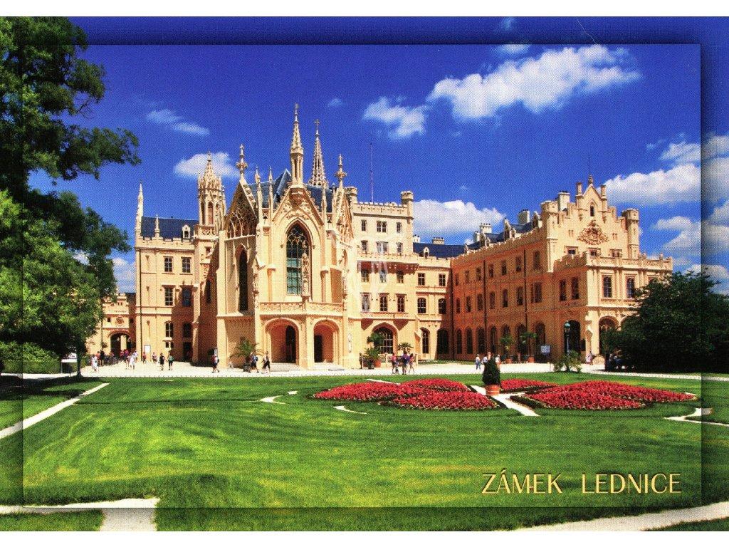 2078 2 pohlednice zamek lednice
