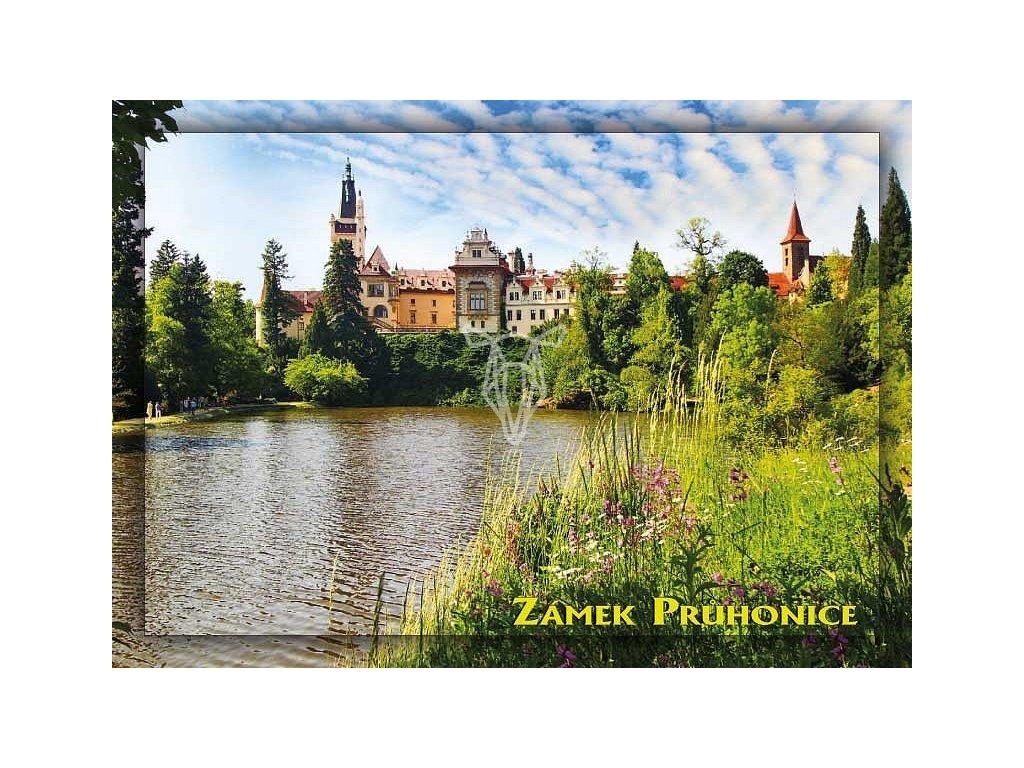 698 2 pohlednice zamek pruhonice