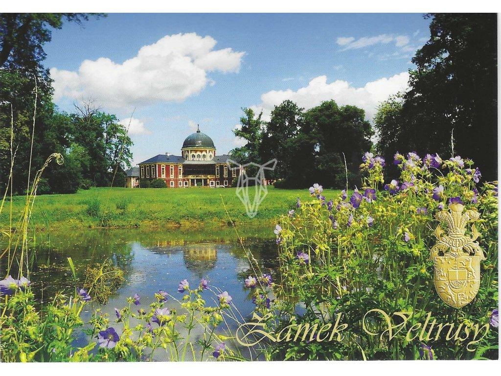 13697 3 pohlednice zamek veltrusy