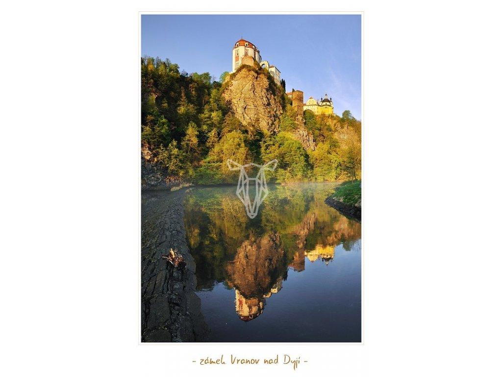 1328 2 pohlednice zamek vranov nad dyji 10 5 x 15 cm