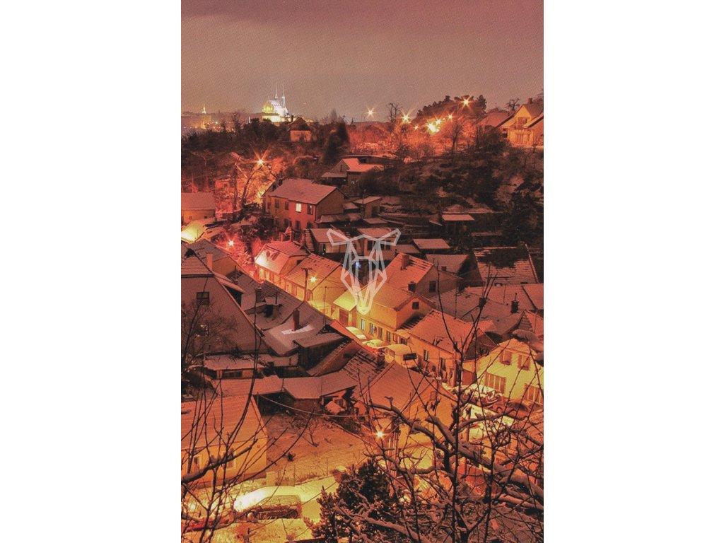 263 pohlednice zimni ulicky brno