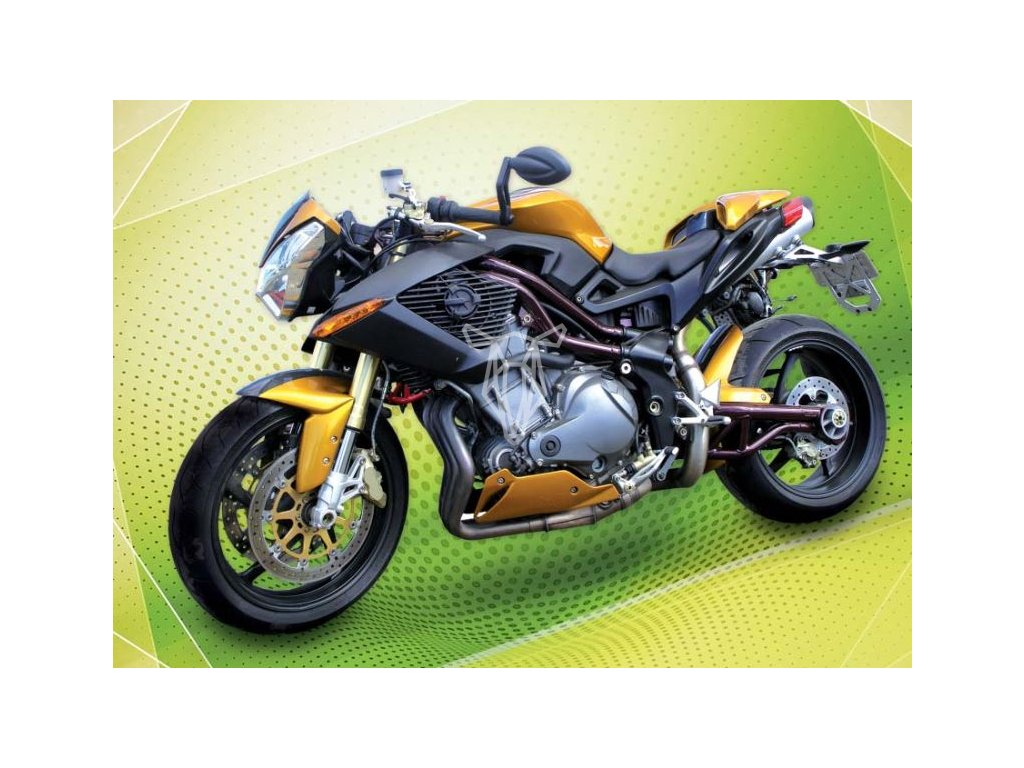 12755 3 pohlednice zlata motorka