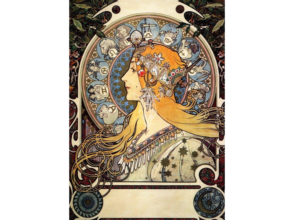 2162 2 pohlednice zodiac alfons mucha zverokruh
