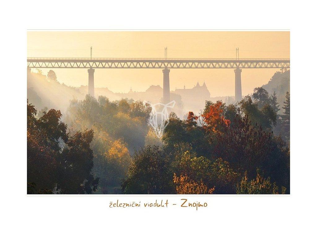1040 pohlednice zeleznicni viadukt znojmo 17x12 cm