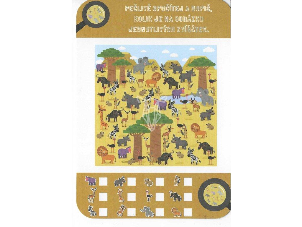 15143 3 pohlednicove pocitani zvirata