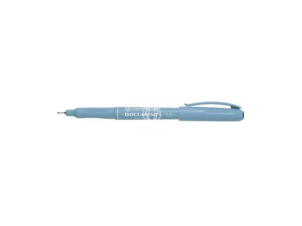 14570 1 popisovac centropen cerny liner 0 5 mm