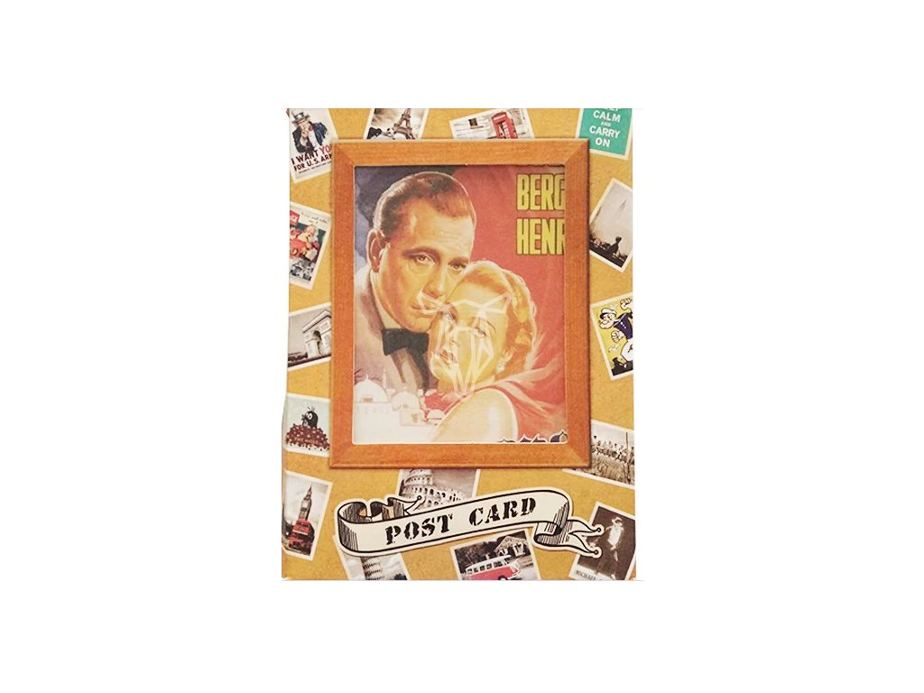17111 sada 32 vintage pohlednic filmove postavy
