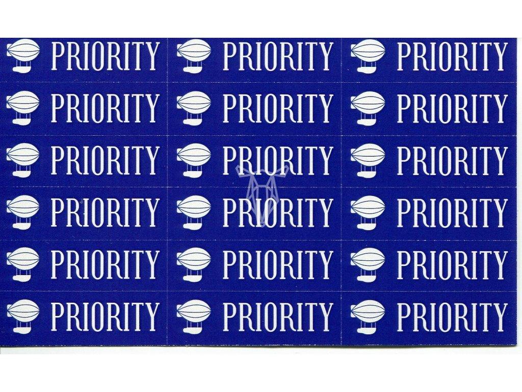 653 samolepky priority vzducholod