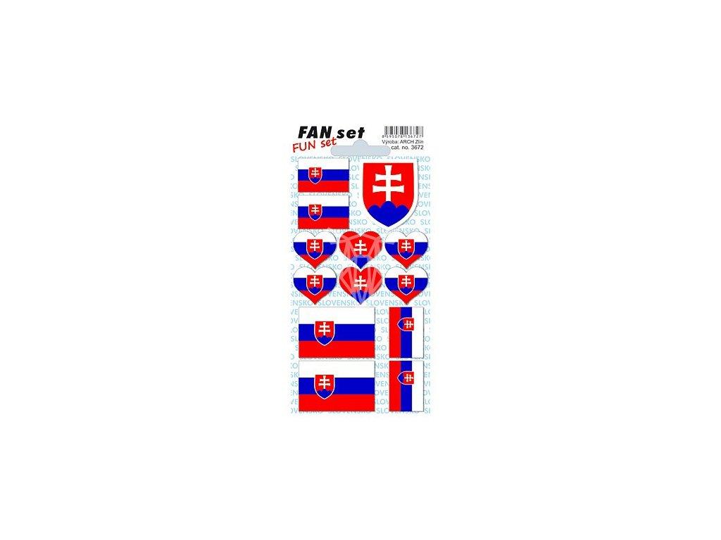 1079 samolepky slovenska vlajka a znak 8 15 cm 1 arsik